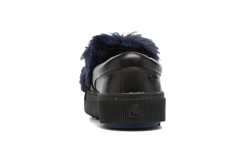 Baskets Karl Lagerfeld Luxor Kup PomBow Slip On Noir vue droite