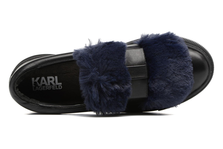 Baskets Karl Lagerfeld Luxor Kup PomBow Slip On Noir vue gauche