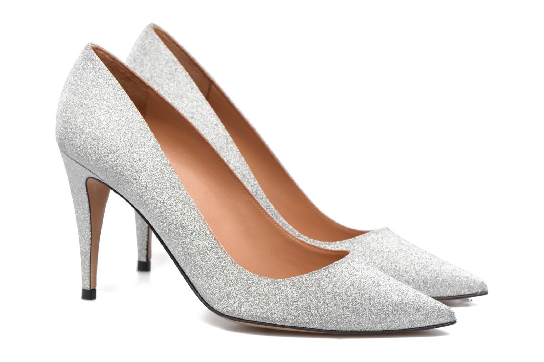 High heels Pura Lopez ZAAK117 Silver 3/4 view
