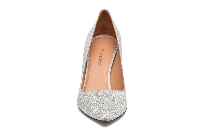 High heels Pura Lopez ZAAK117 Silver model view