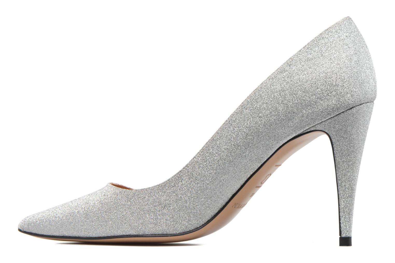 High heels Pura Lopez ZAAK117 Silver front view