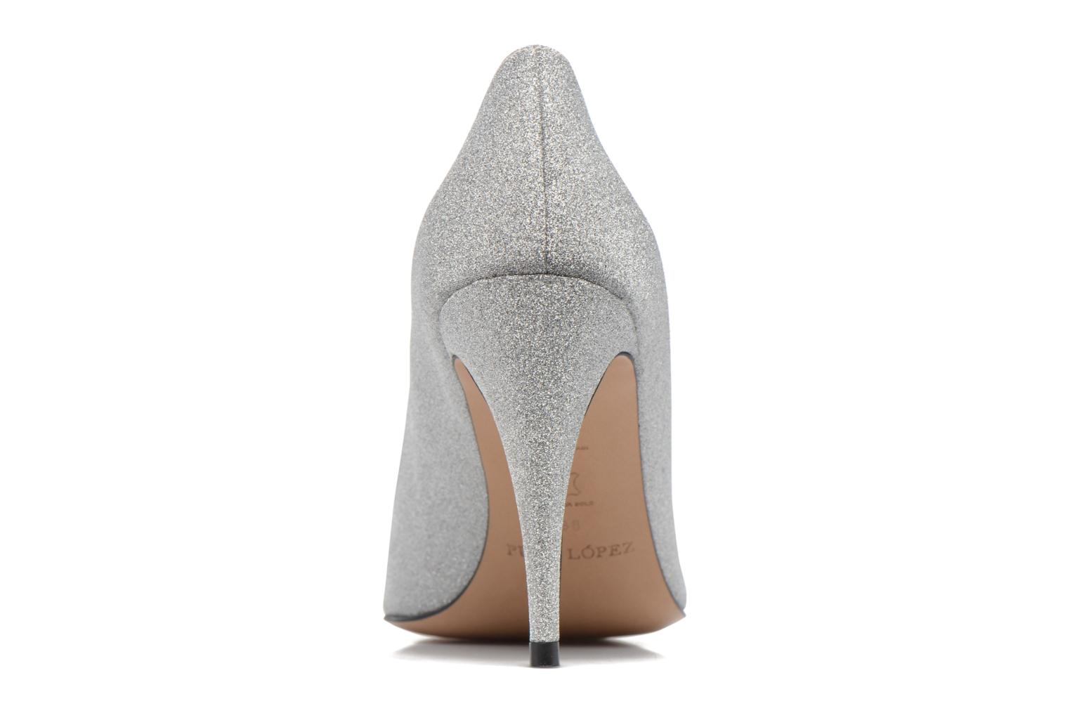 High heels Pura Lopez ZAAK117 Silver view from the right