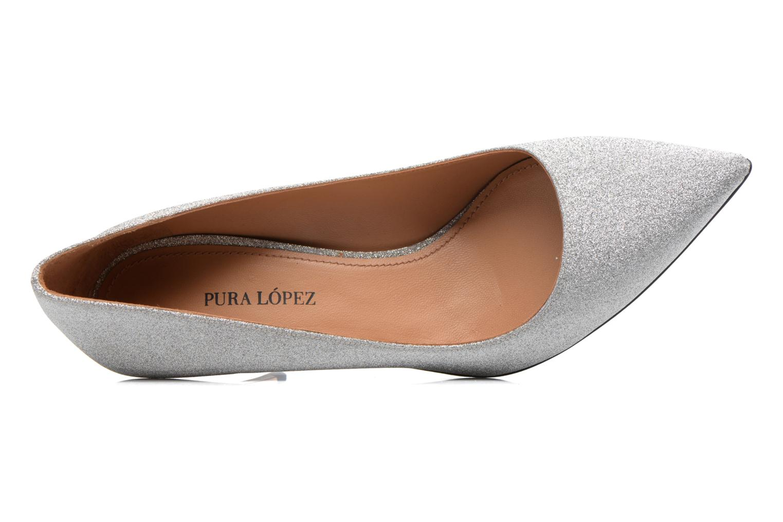 High heels Pura Lopez ZAAK117 Silver view from the left