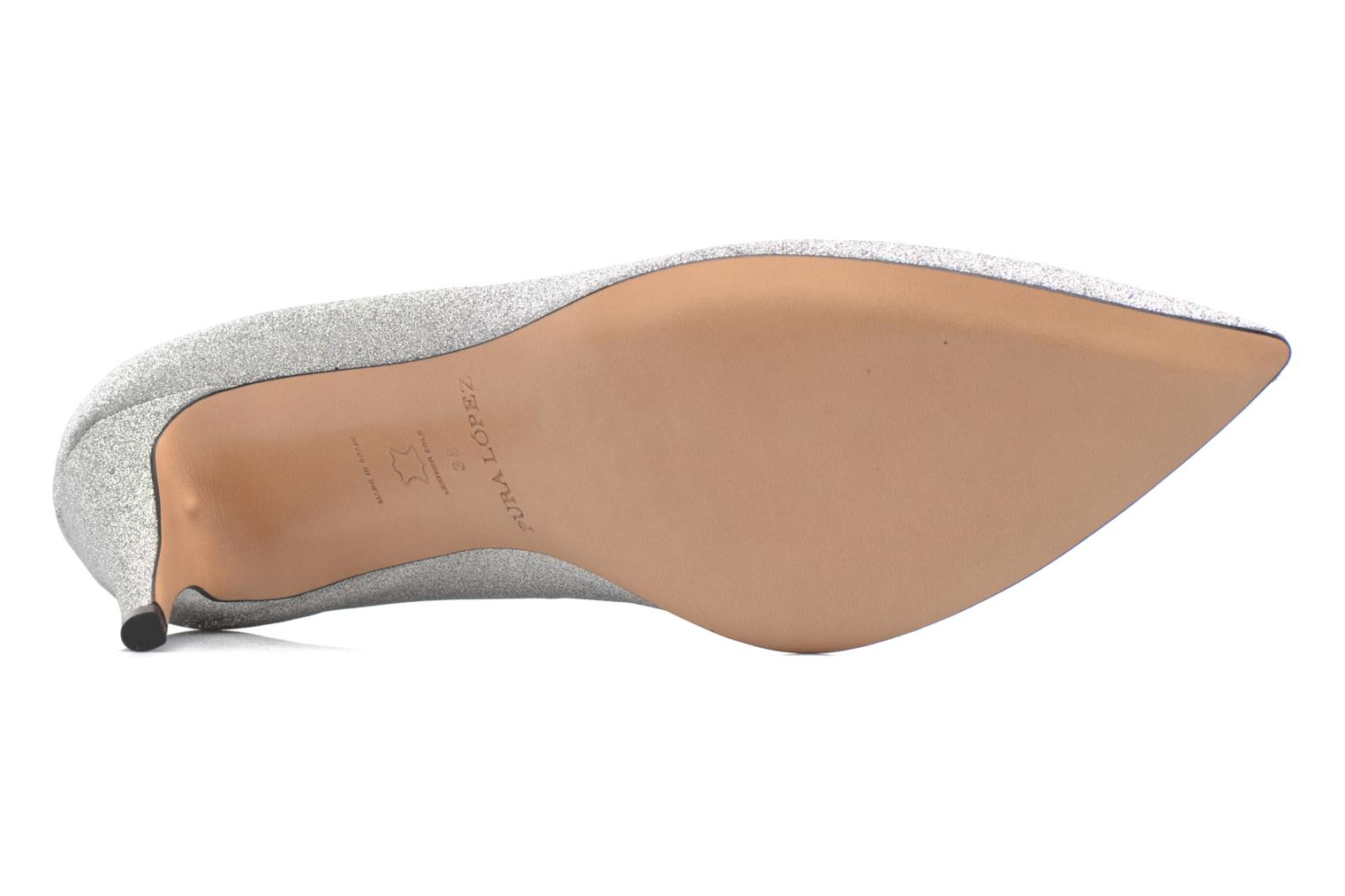 High heels Pura Lopez ZAAK117 Silver view from above