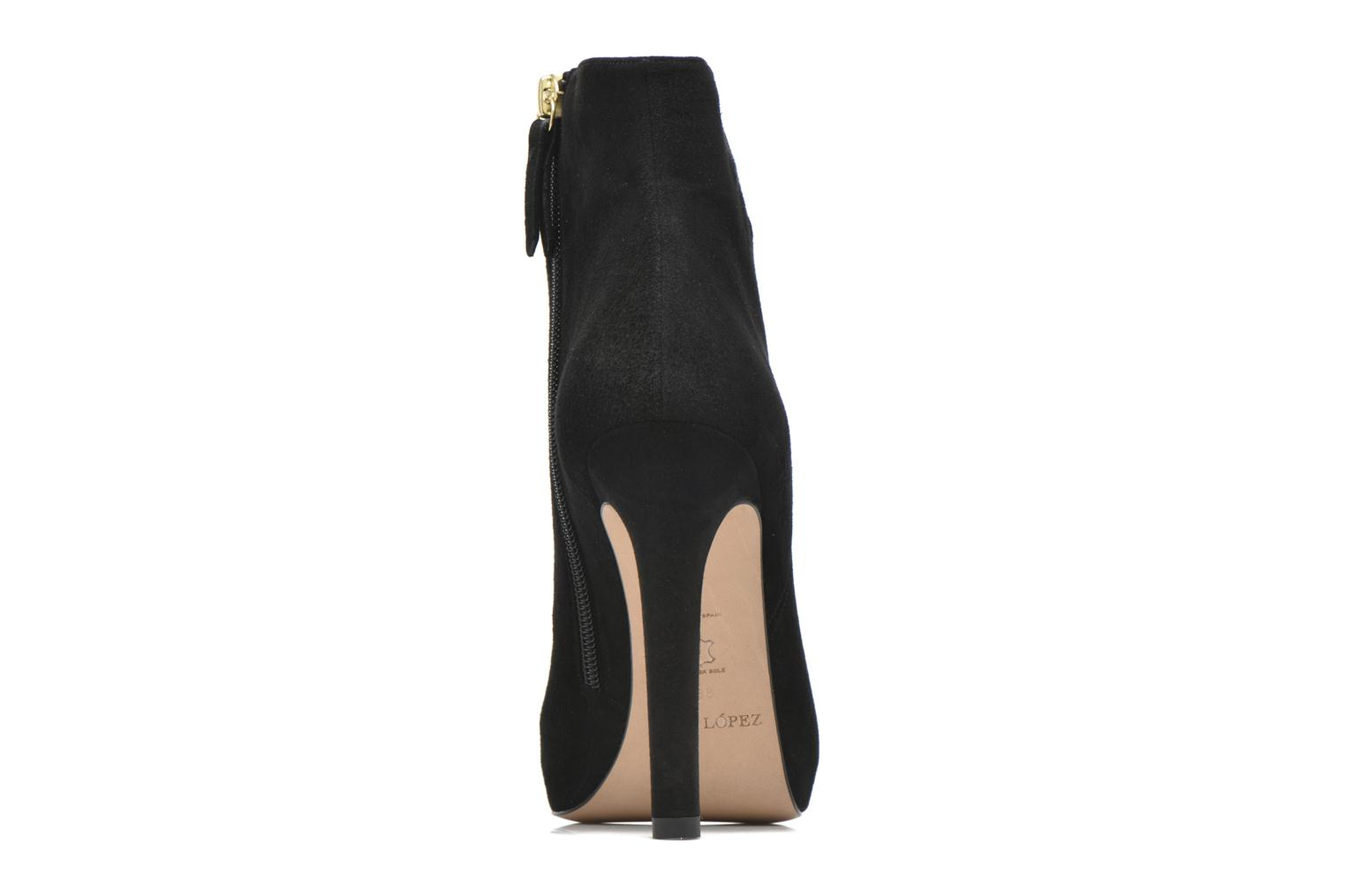 Ankle boots Pura Lopez BNAJ263 Beige view from the right