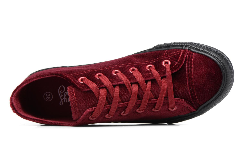 Deportivas I Love Shoes THYSAL Vino vista lateral izquierda