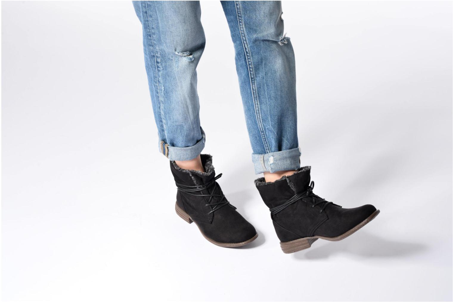 Ankle boots I Love Shoes THABLEAU Fourrée Black view from underneath / model view