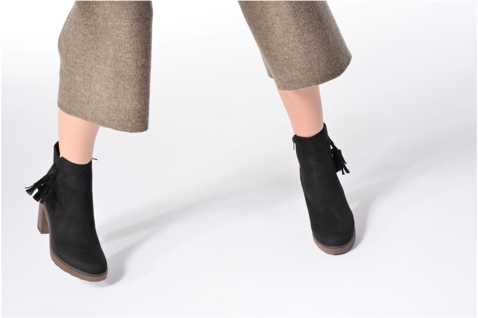 Ankle boots I Love Shoes THALUS Brown view from underneath / model view
