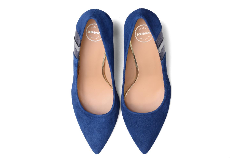 Décolleté Made by SARENZA Snow Disco #5 Azzurro modello indossato