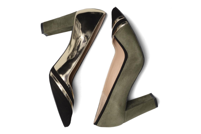 High heels Made by SARENZA Shoe Officer #6 Green 3/4 view
