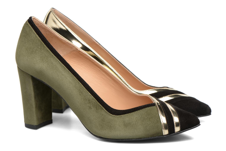 Zapatos de tacón Made by SARENZA Shoe Officer #6 Verde vistra trasera