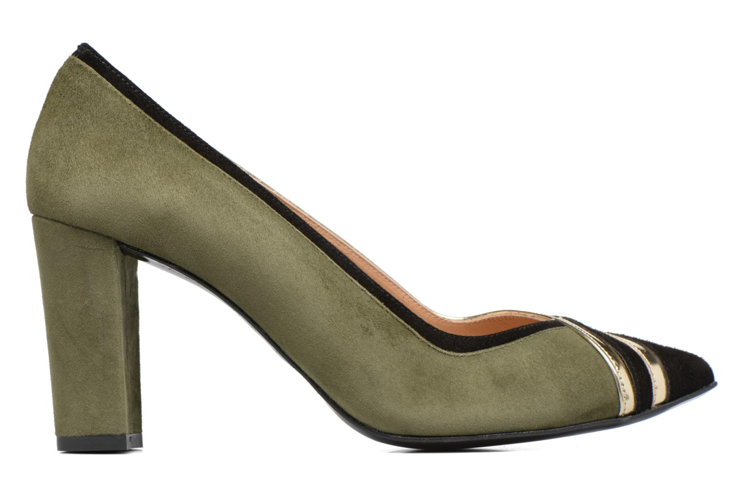 High heels Made by SARENZA Shoe Officer #6 Green detailed view/ Pair view