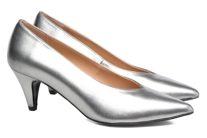 High heels Made by SARENZA Busy Girl Escarpins #3 Silver back view
