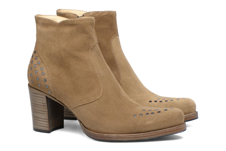 Bottines et boots Free Lance Paddy 7 Zip boot rivet Beige vue 3/4