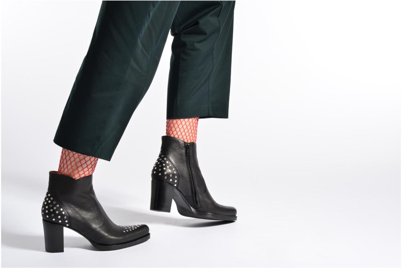 Bottines et boots Free Lance Paddy 7 Zip boot rivet Beige vue bas / vue portée sac