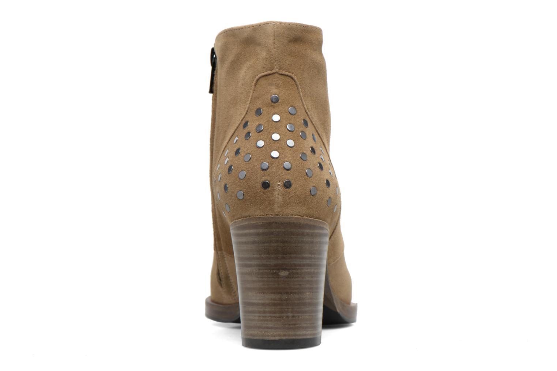 Bottines et boots Free Lance Paddy 7 Zip boot rivet Beige vue droite