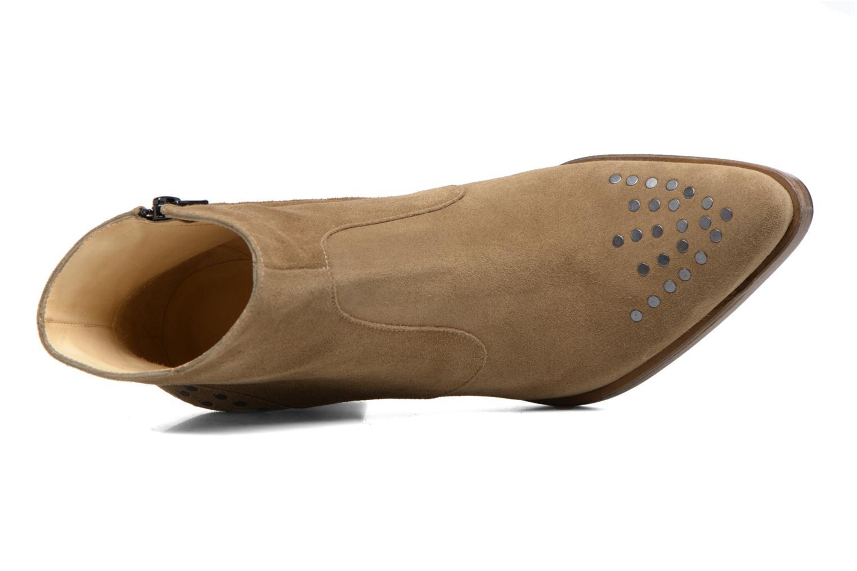 Bottines et boots Free Lance Paddy 7 Zip boot rivet Beige vue gauche