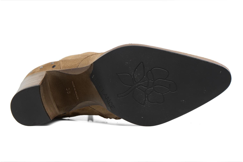 Bottines et boots Free Lance Paddy 7 Zip boot rivet Beige vue haut