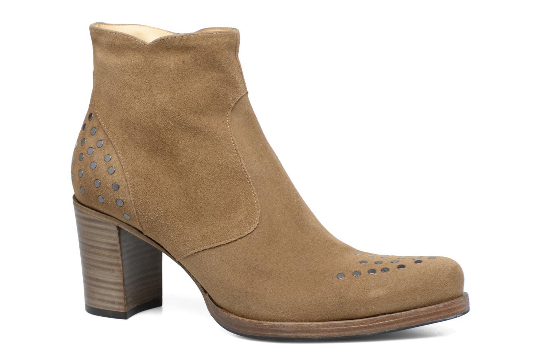 Bottines et boots Free Lance Paddy 7 Zip boot rivet Beige vue détail/paire
