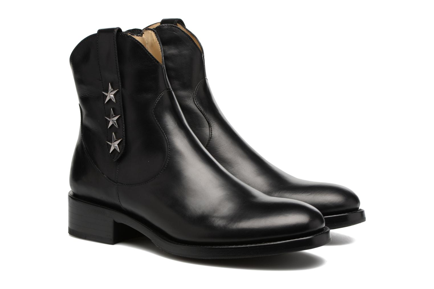 Bottines et boots Free Lance Mansory 4 West Zip Boot Star Noir vue 3/4
