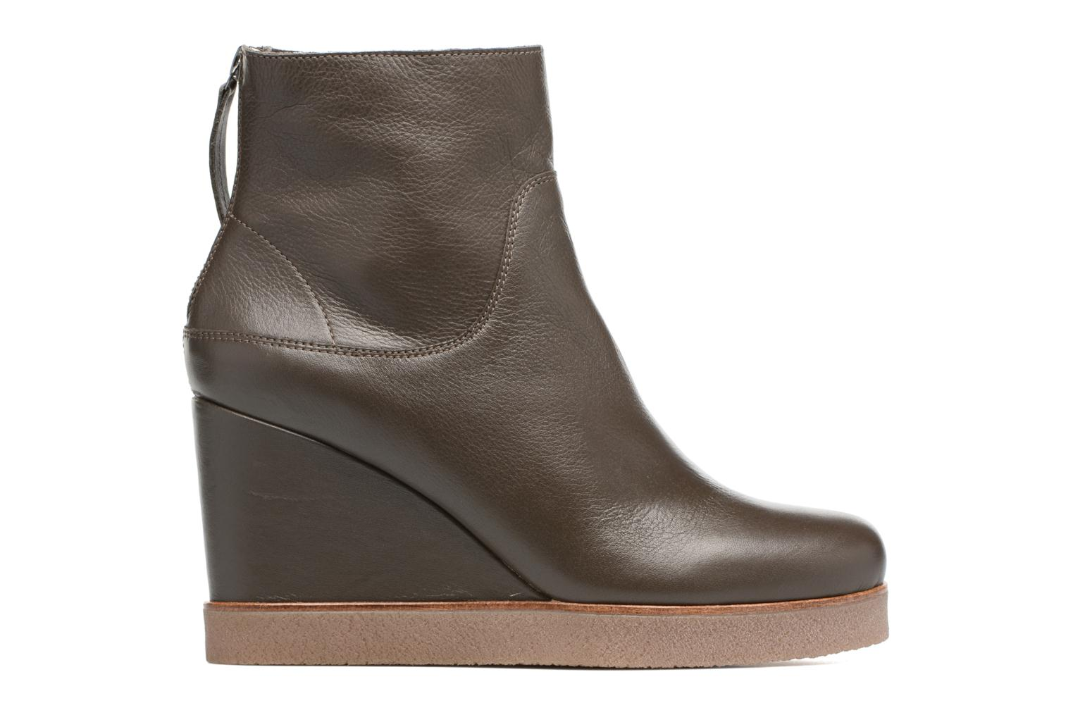 Ankle boots Unisa Galeni Brown back view