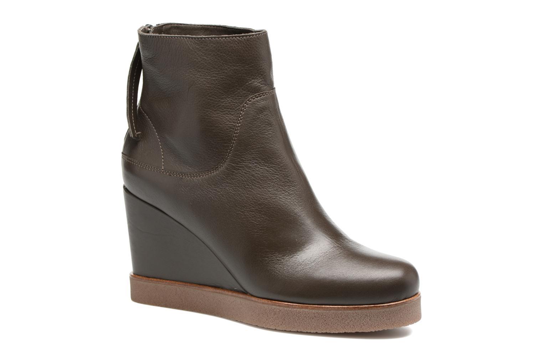 Boots en enkellaarsjes Unisa Galeni Bruin detail