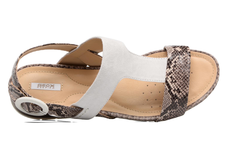 Sandales et nu-pieds Geox D FORMOSA E Blanc vue gauche