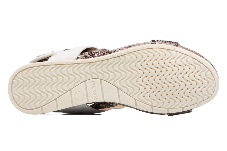 Sandales et nu-pieds Geox D FORMOSA E Blanc vue haut