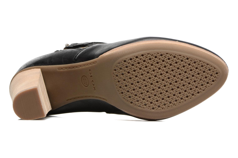 Bottines et boots Geox D KALI A Noir vue haut