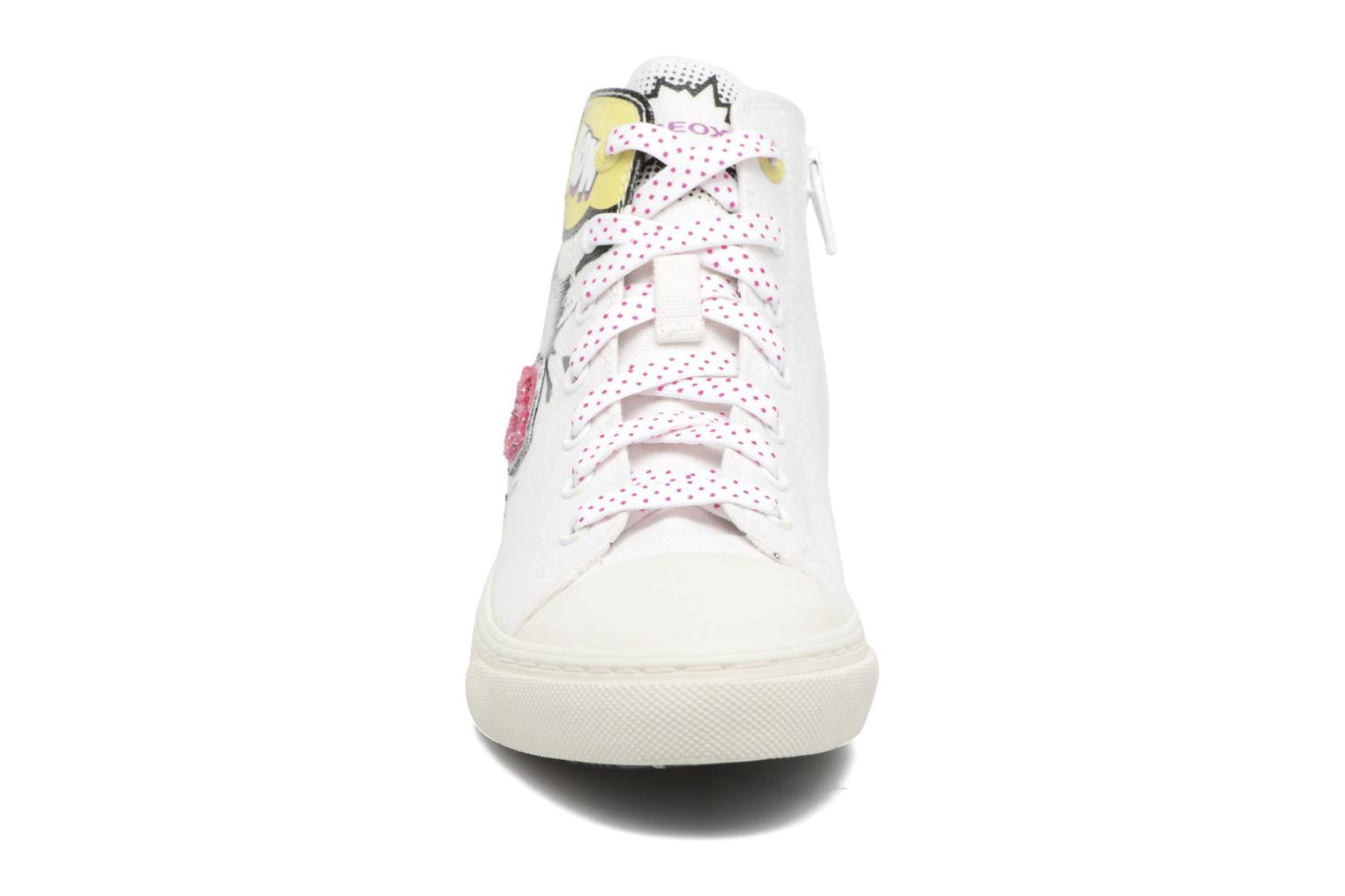 Baskets Geox D NEW CLUB B II Blanc vue portées chaussures