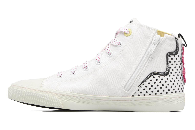 Sneakers Geox D NEW CLUB B II Wit voorkant