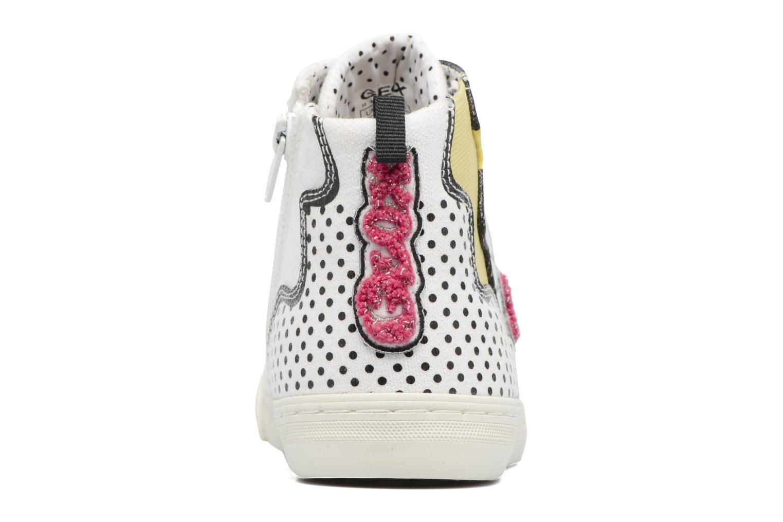Sneakers Geox D NEW CLUB B II Wit rechts