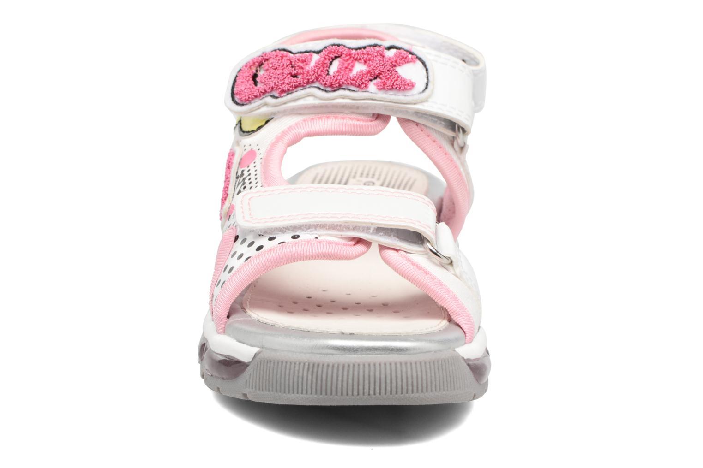 Sandales et nu-pieds Geox J SANDAL ANDROID GIR Blanc vue portées chaussures