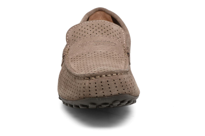 Mocassins Geox U SNAKE MOC 2FIT A Marron vue portées chaussures