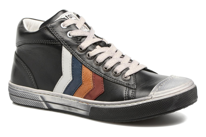 Sneakers Stones and Bones Rosto Sort detaljeret billede af skoene