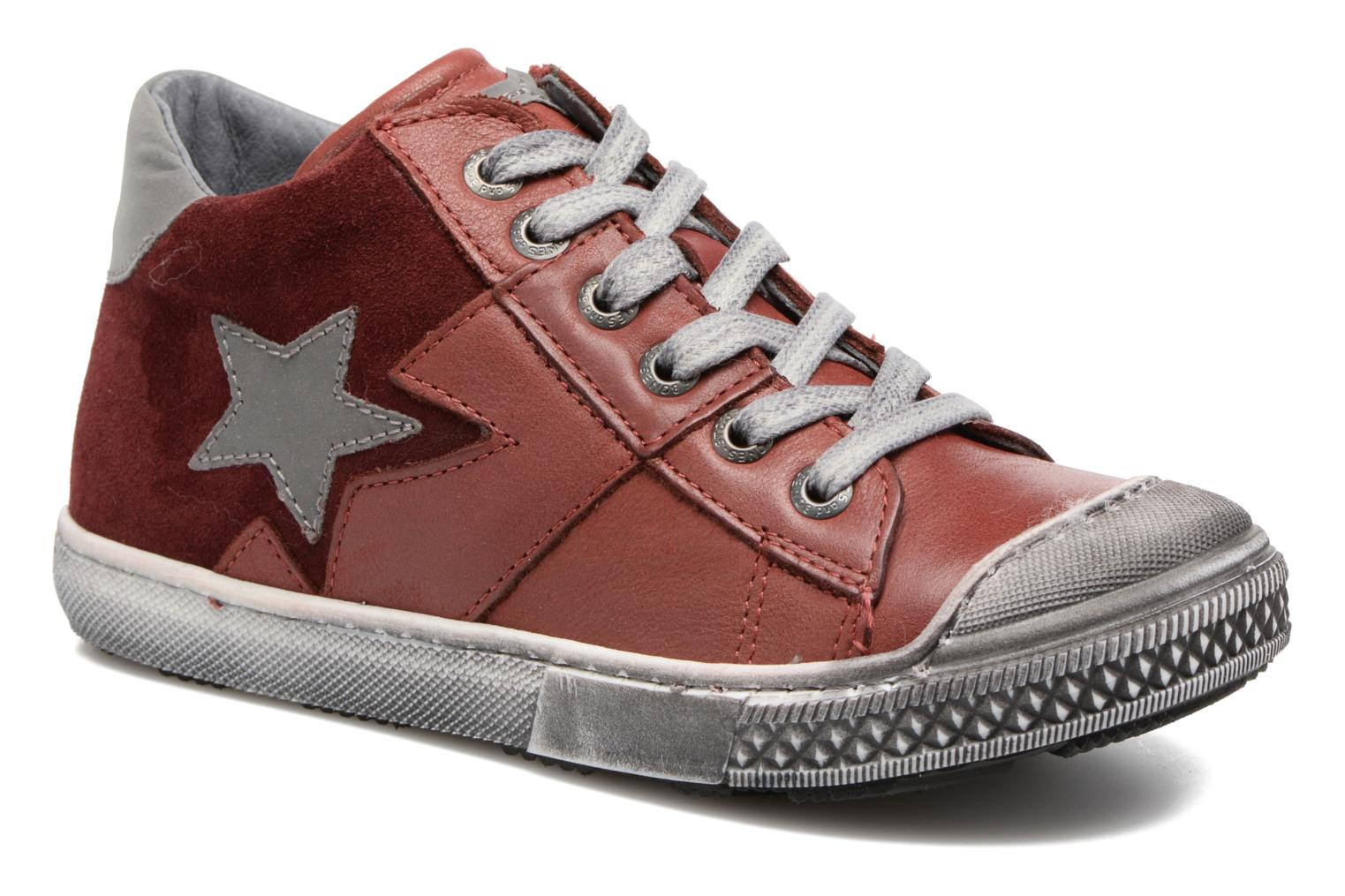 Sneakers Stones and Bones Lato Rood detail