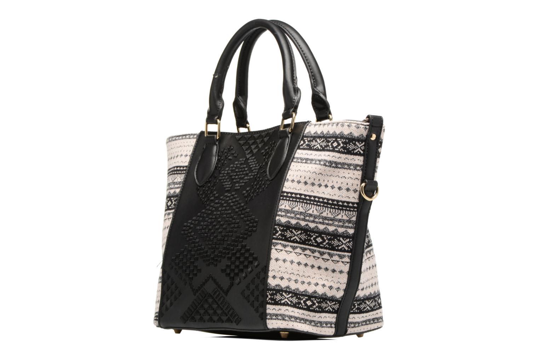 Sacs à main Desigual Florida Lila Handbag Noir vue portées chaussures