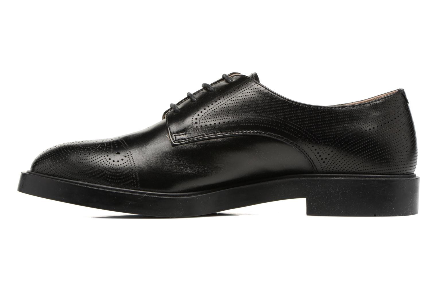 Lace-up shoes Fratelli Rossetti 75406 Black front view