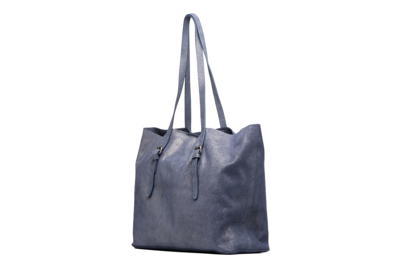 Sacs à main Esprit Venus Leather Shopper Bleu vue droite