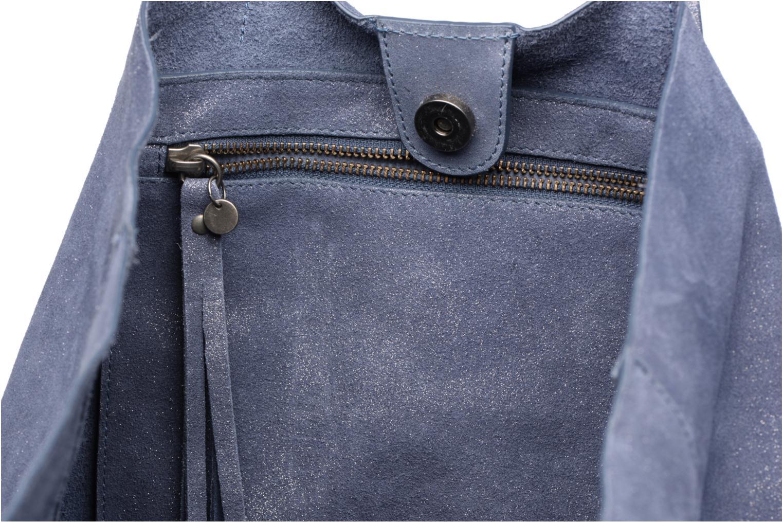 Venus Leather Shopper Grey blue