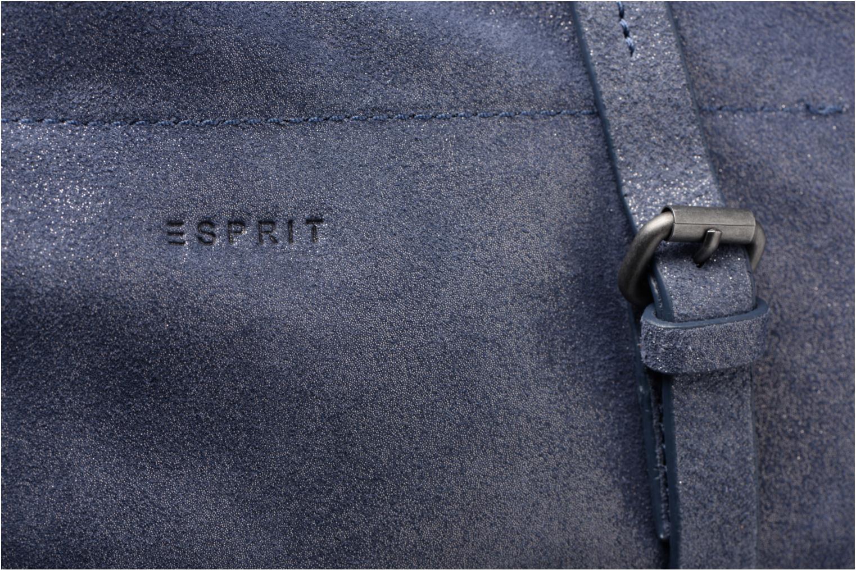 Sacs à main Esprit Venus Leather Shopper Bleu vue gauche