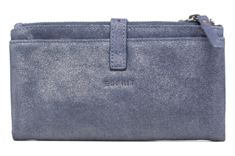 Petite Maroquinerie Esprit Venus Leather Wallet Bleu vue face