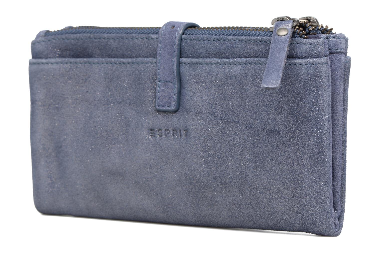 Petite Maroquinerie Esprit Venus Leather Wallet Bleu vue droite