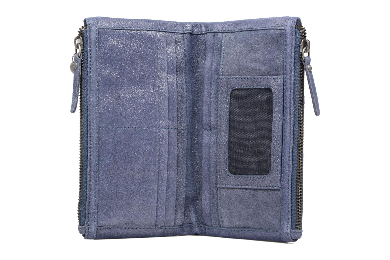 Petite Maroquinerie Esprit Venus Leather Wallet Bleu vue derrière