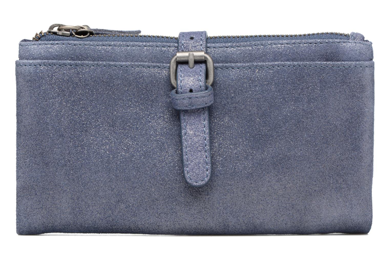 Petite Maroquinerie Esprit Venus Leather Wallet Bleu vue détail/paire