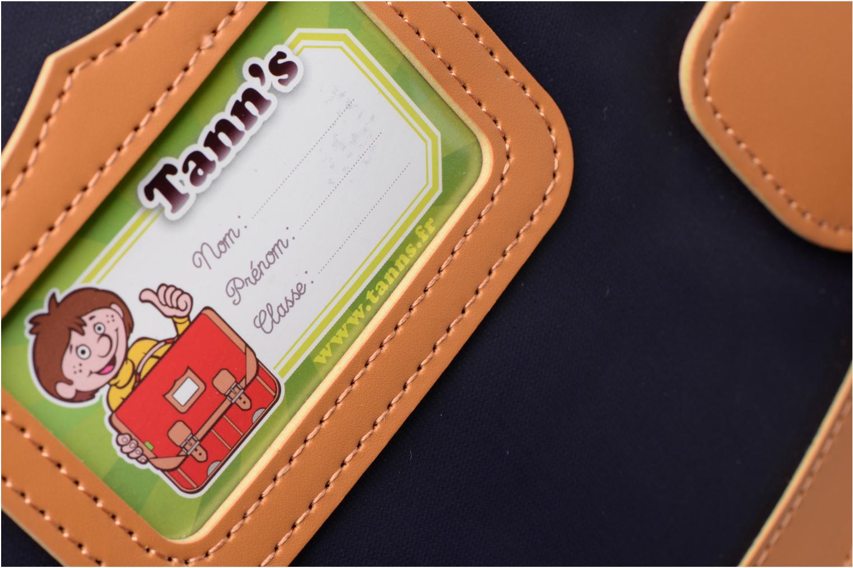 Scolaire Tann's Cartable 41cm Tartan Bleu vue gauche