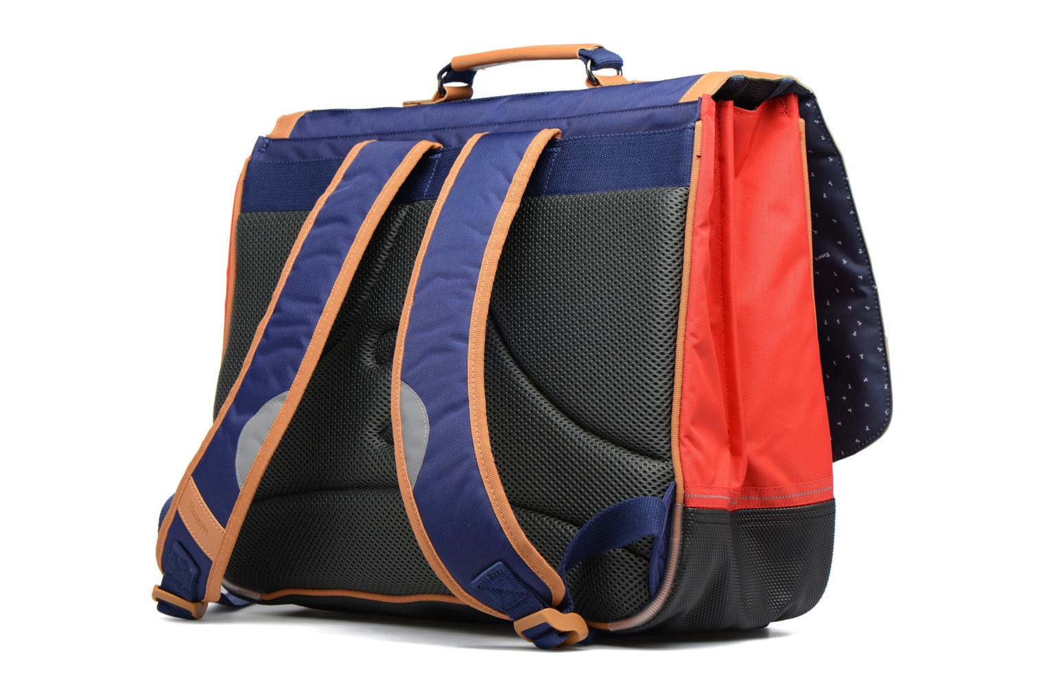 Cartable 41cm Polo Bleu/Rouge