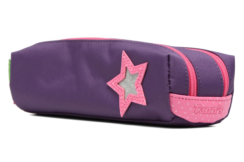 Per la scuola Tann's Trousse double Star Viola modello indossato
