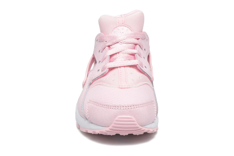 Baskets Nike Nike Huarache Run Se (Ps) Rose vue portées chaussures