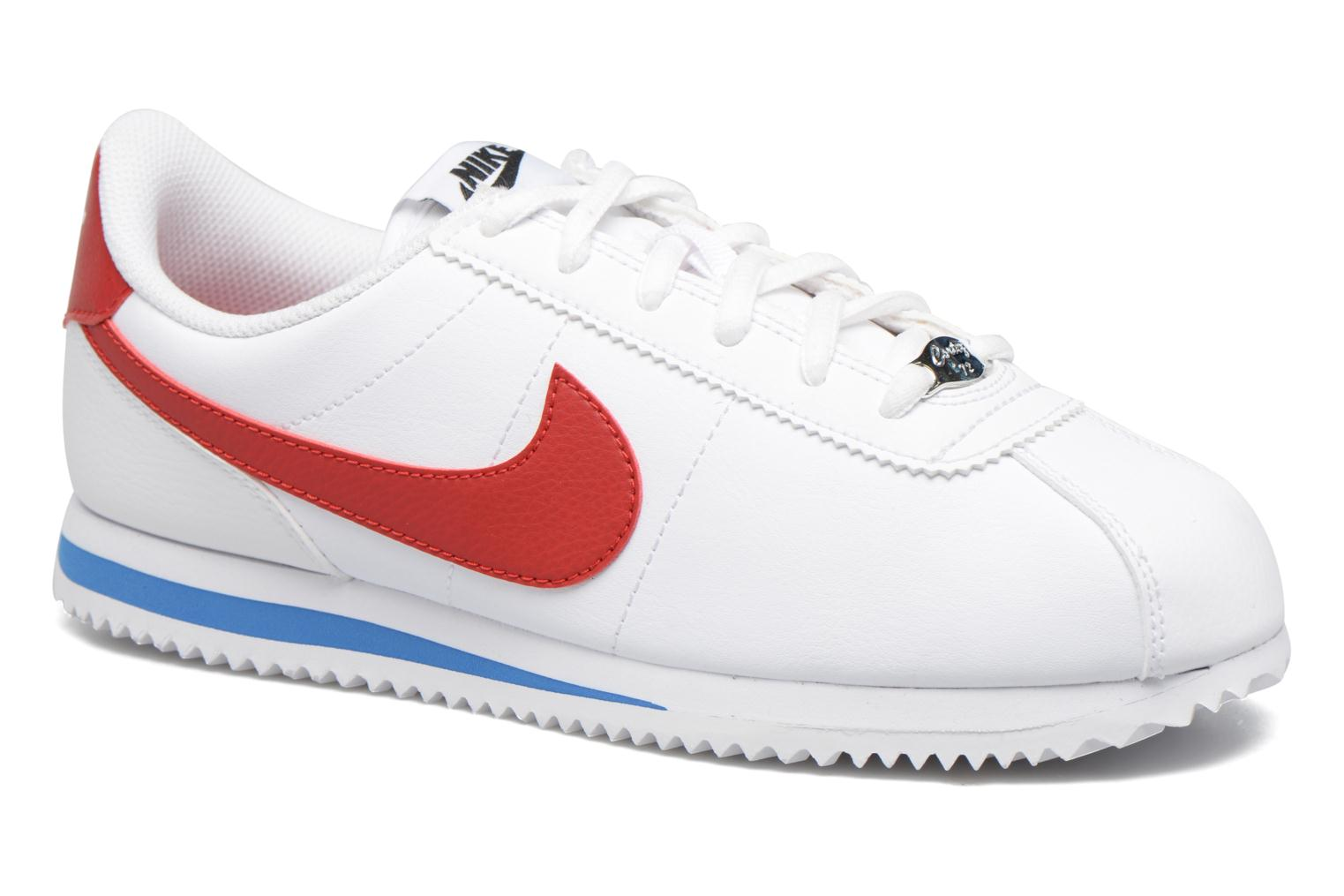 Cortez Basic Sl (Gs) White/Varsity Red-Varsity Royal-Black